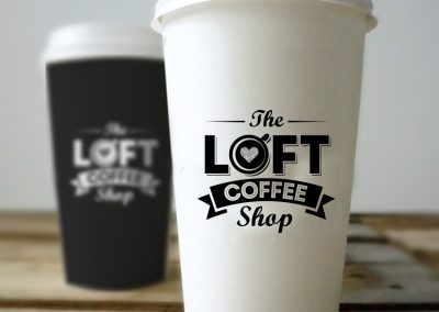 The Loft Coffee Shop Cups
